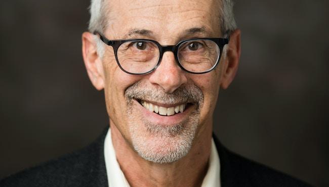 04/11/2017 - Medford/Somerville, Mass. - David Walt, University Professor of Chemistry, poses for a photograph on April 11, 2017. (Alonso Nichols/Tufts University)